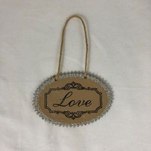 Love Hanging ornament sign